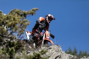 enduro rider going down a downhill