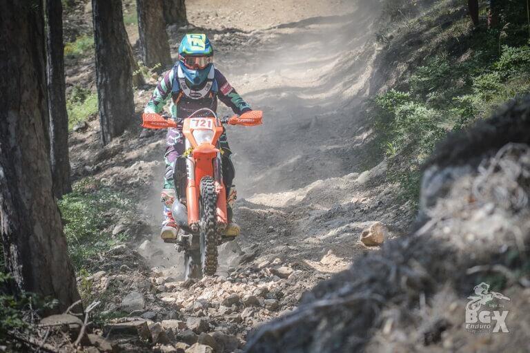 enduro rider in the forest ENDURO TOURS BULGARIA