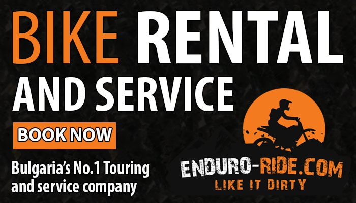 Bike rental and service label ENDURO TOURS BULGARIA