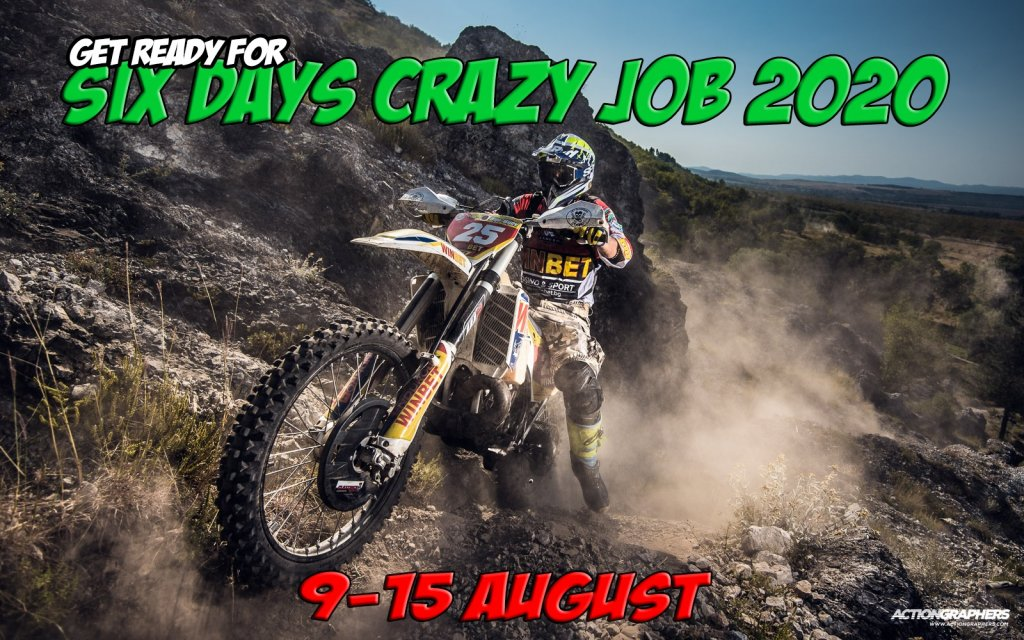 six days crazy job enduro race poster