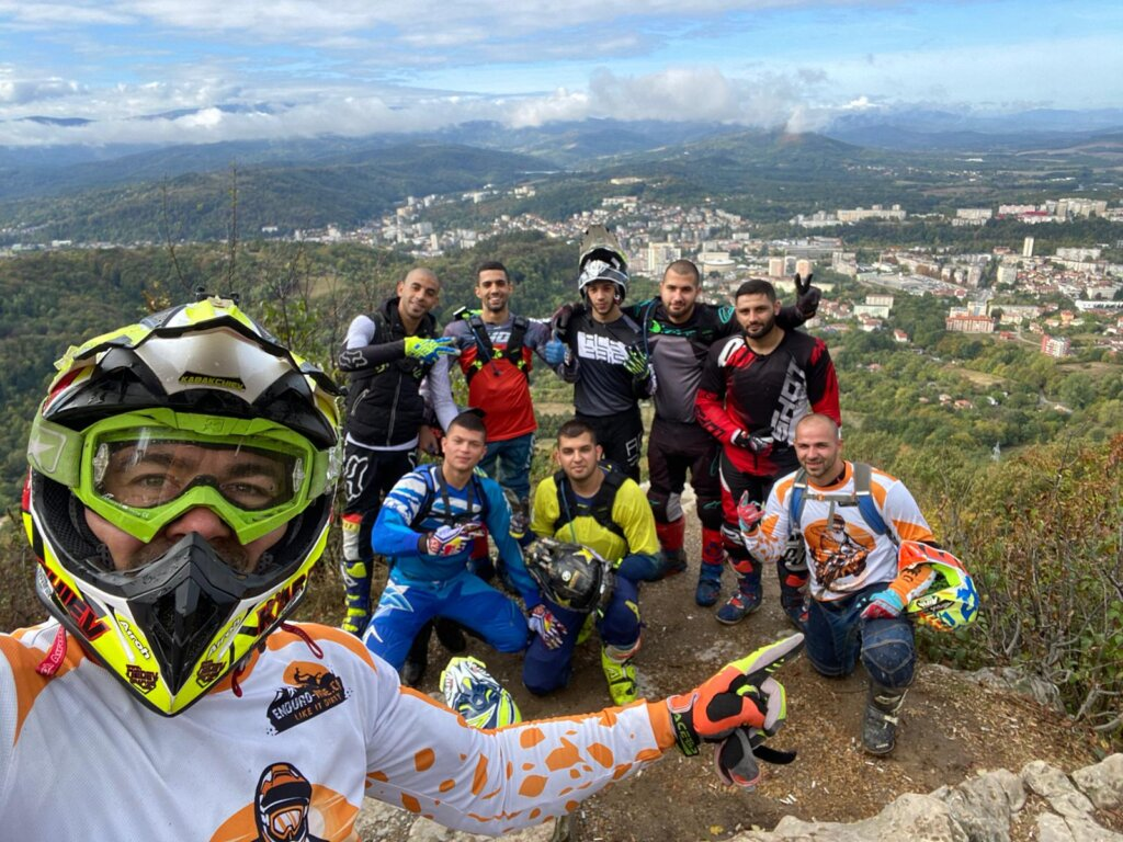enduro riders in Gabrovo Bulgaria