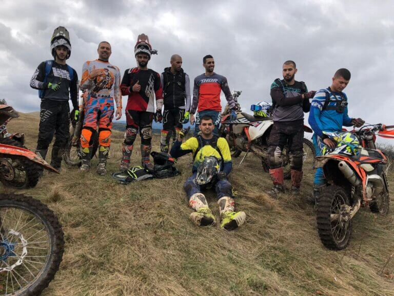 enduro group in the Balkan Mountain