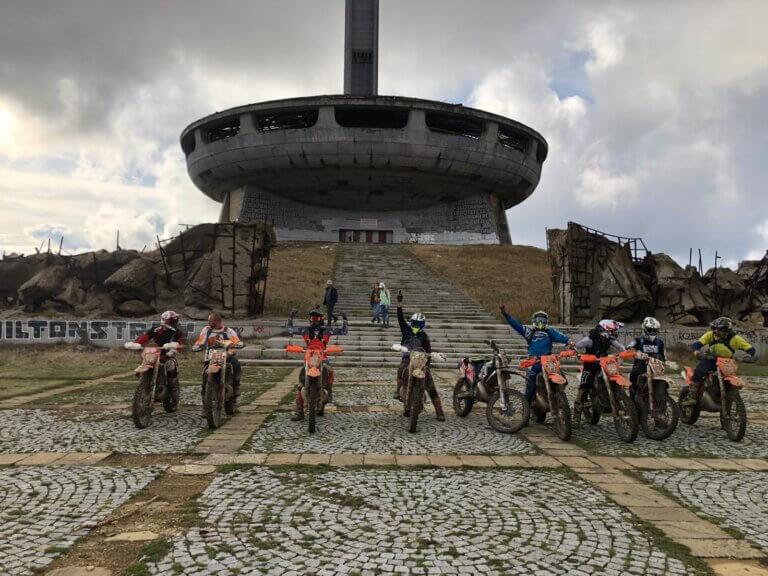 ride enduro in Bulgaria - Buzludzha