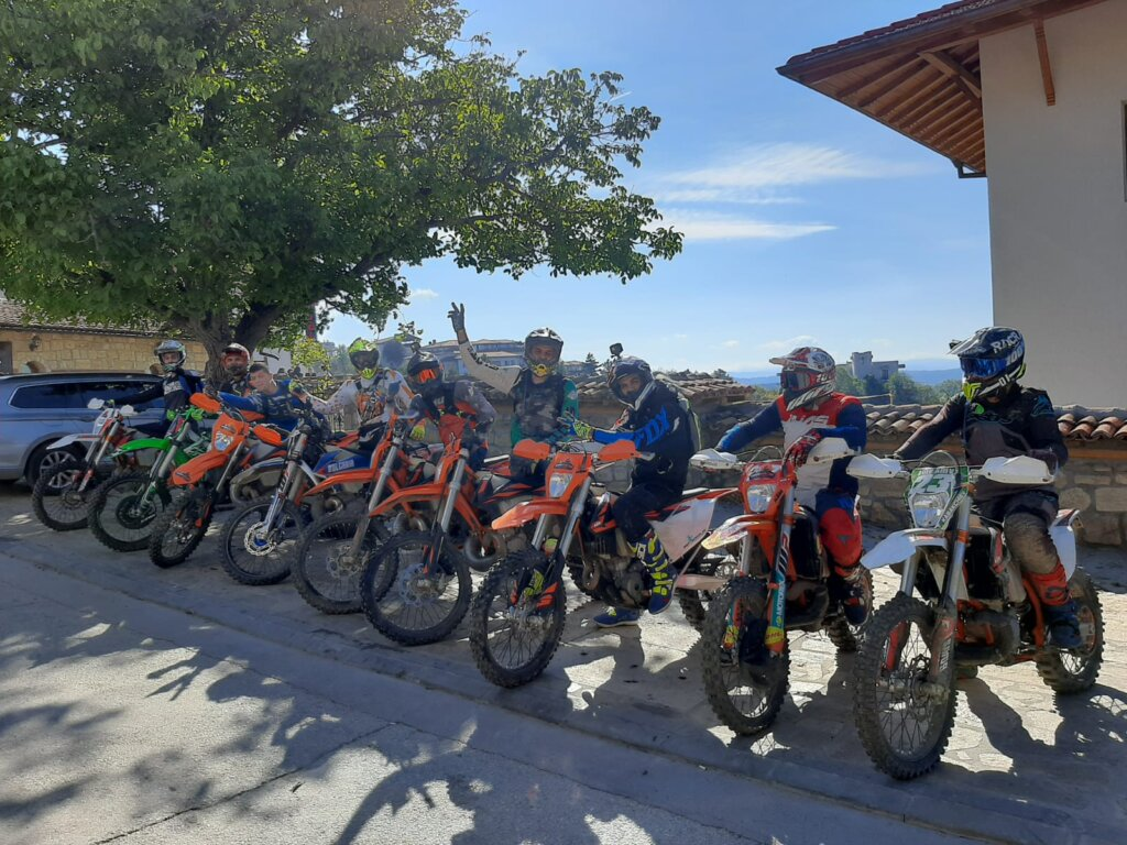 Enduro riders in Europe