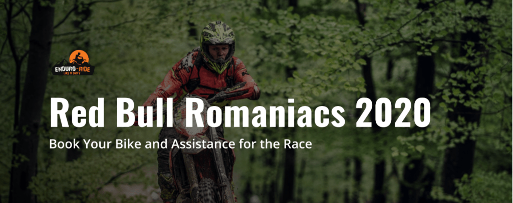 book bike with enduro ride for red bull romaniacs 2020